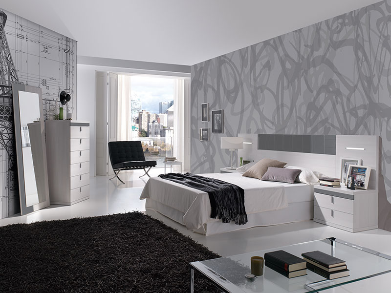 Dormitorios muebles brey for Habitaciones con muebles blancos